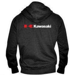Мужская толстовка на молнии Kawasaki Logo - FatLine