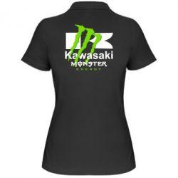Женская футболка поло Kawasaki Monster Energy - FatLine