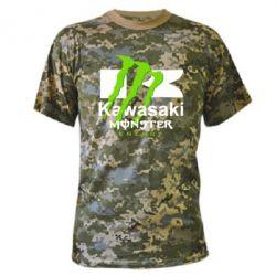 Камуфляжная футболка Kawasaki Monster Energy - FatLine