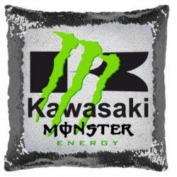 Подушка-хамелеон Kawasaki Monster Energy