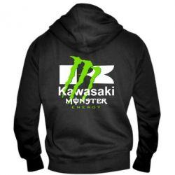 Мужская толстовка на молнии Kawasaki Monster Energy - FatLine