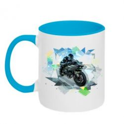 Кружка двухцветная Kawasaki Ninja Art
