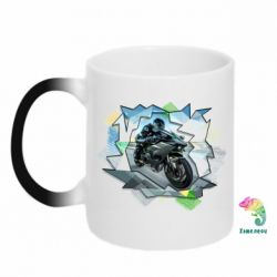 Кружка-хамелеон Kawasaki Ninja Art