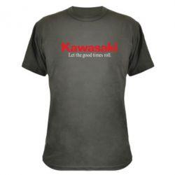 Камуфляжная футболка Kawasaki. Let the good times roll.