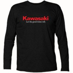 Футболка с длинным рукавом Kawasaki. Let the good times roll. - FatLine