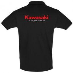 Футболка Поло Kawasaki. Let the good times roll. - FatLine