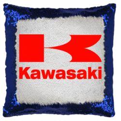 Подушка-хамелеон Kawasaki
