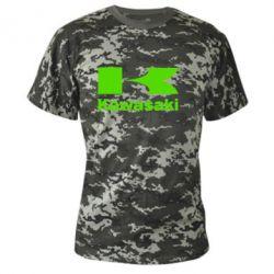 Камуфляжная футболка Kawasaki - FatLine