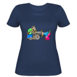Женская футболка Казаки и пушка
