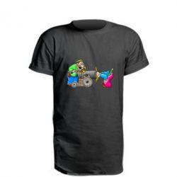 Удлиненная футболка Казаки и пушка