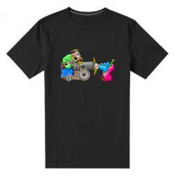 Мужская стрейчевая футболка Казаки и пушка