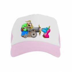 Детская кепка-тракер Казаки и пушка