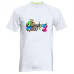 Мужская спортивная футболка Казаки и пушка