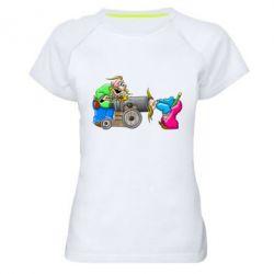 Женская спортивная футболка Казаки и пушка