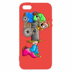 Чехол для iPhone5/5S/SE Казаки и пушка