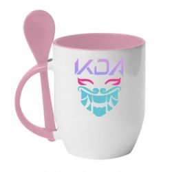 Кружка з керамічною ложкою KDA