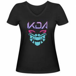 Жіноча футболка з V-подібним вирізом KDA