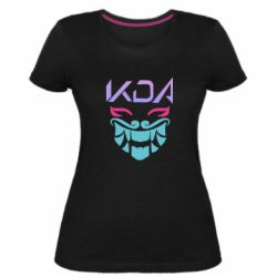 Жіноча стрейчева футболка KDA