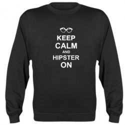 Реглан (свитшот) Keep calm an hipster on - FatLine