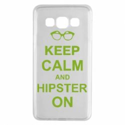Чехол для Samsung A3 2015 Keep calm an hipster on