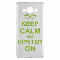 Чехол для Samsung A5 2015 Keep calm an hipster on