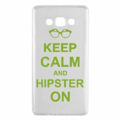 Чехол для Samsung A7 2015 Keep calm an hipster on
