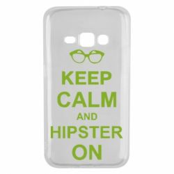 Чехол для Samsung J1 2016 Keep calm an hipster on