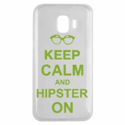 Чехол для Samsung J2 2018 Keep calm an hipster on