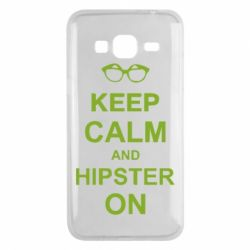 Чехол для Samsung J3 2016 Keep calm an hipster on
