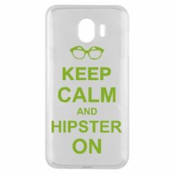 Чехол для Samsung J4 Keep calm an hipster on