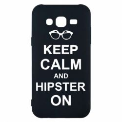 Чехол для Samsung J5 2015 Keep calm an hipster on