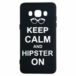 Чехол для Samsung J5 2016 Keep calm an hipster on