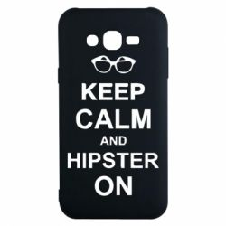 Чехол для Samsung J7 2015 Keep calm an hipster on