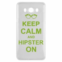 Чехол для Samsung J7 2016 Keep calm an hipster on