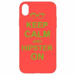 Чехол для iPhone XR Keep calm an hipster on