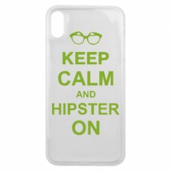 Чехол для iPhone Xs Max Keep calm an hipster on