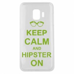 Чехол для Samsung J2 Core Keep calm an hipster on