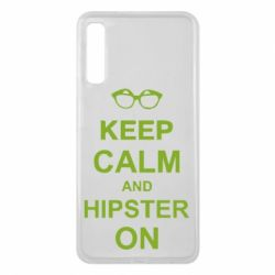 Чехол для Samsung A7 2018 Keep calm an hipster on