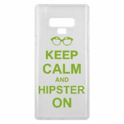Чехол для Samsung Note 9 Keep calm an hipster on