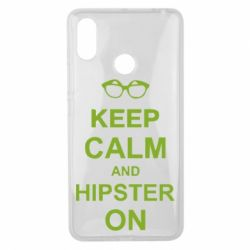 Чехол для Xiaomi Mi Max 3 Keep calm an hipster on