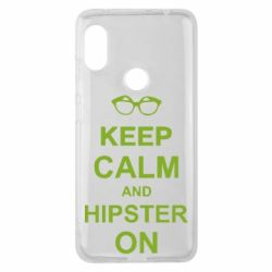 Чехол для Xiaomi Redmi Note 6 Pro Keep calm an hipster on