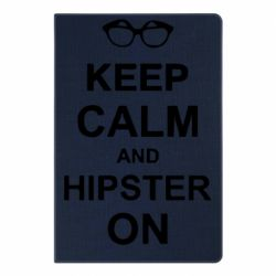 Блокнот А5 Keep calm an hipster on
