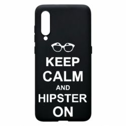 Чехол для Xiaomi Mi9 Keep calm an hipster on