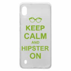 Чехол для Samsung A10 Keep calm an hipster on