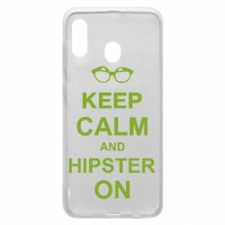 Чехол для Samsung A30 Keep calm an hipster on