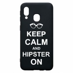 Чехол для Samsung A40 Keep calm an hipster on