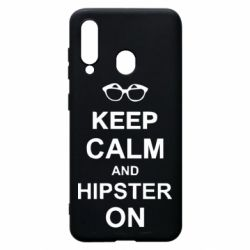 Чехол для Samsung A60 Keep calm an hipster on