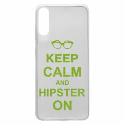Чехол для Samsung A70 Keep calm an hipster on