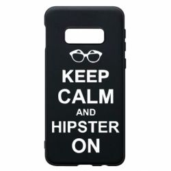 Чехол для Samsung S10e Keep calm an hipster on