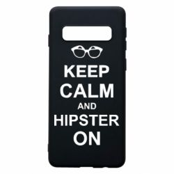 Чехол для Samsung S10 Keep calm an hipster on